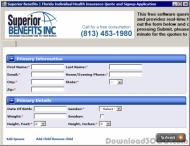Florida Health Insurance Quote Software screenshot